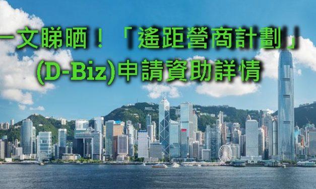 一文睇晒!「遙距營商計劃」(D-Biz)申請資助詳情